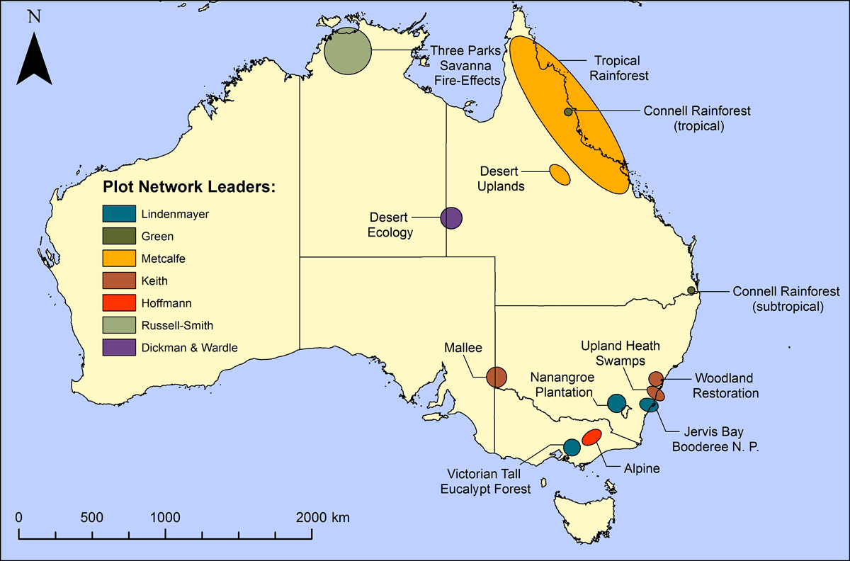 Map showing spatial distribution of the Long Term Ecological Research Network